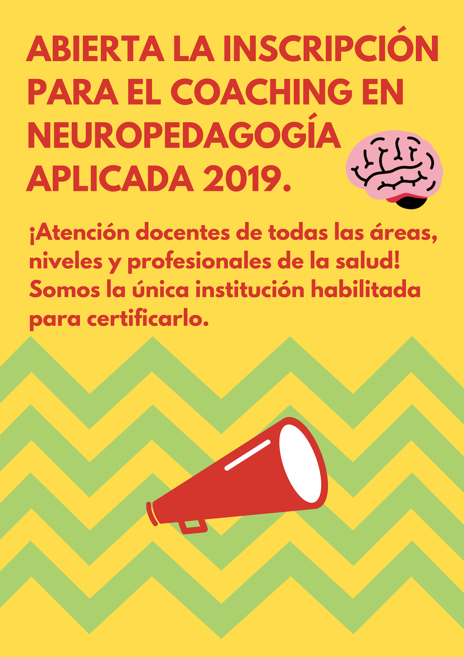 Coaching en Neuropedagogía Aplicada-2019